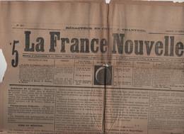 LA FRANCE NOUVELLE 17 10 1876 - RUSSIE TURQUIE - ELECTION DES MAIRES - SAINT QUENTIN - TOURCOING - FALAISE DE MESNIL-VAL - 1850 - 1899