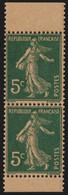 France N°137k, Paire Verticale De Carnet Papier GC, Neufs ** COTE 40€ - TB - Unused Stamps