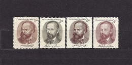 Czechoslovakia 1951 MNH ** Mi 665-668 Sc 460-463 Festival Prague. Antonin Dvorak, Bedrich Smetana.Tschechoslowakei - Unused Stamps