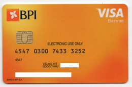 VISA Electron BPI Bank Portugal Debit Card - Krediet Kaarten (vervaldatum Min. 10 Jaar)