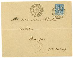 ARDECHE ENV 1901 FB84 SAGE ST PIERRE DE COLOMBIER 14/01/01 (OUVERTURE ADMINIST JUIN 1899 REELLE POSTERIEURE) QUALITE EXC - 1877-1920: Semi Modern Period