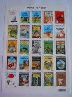 België Belgique 2007 Hergé Georges Remi Kuifje Couvertures Albums Tintin BL 143 3636-3660 Yv 3619-3643 MNH ** - Bandes Dessinées