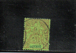 GUYANE 1892 O - Used Stamps