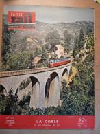 Vie Du Rail 528 1956 Corse Brocognano Girolata Bastia Corte Bonifacio Poissy Veechio Container Nazareth Ciment - Trains