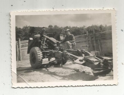 Photographie , 85 X 60 Mm,militaria , COCHINCHINE,militaire ,canon - Oorlog, Militair