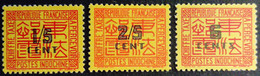Indochine 1931 Taxe Postage Due Yvert 57 58 66 * MH - Portomarken