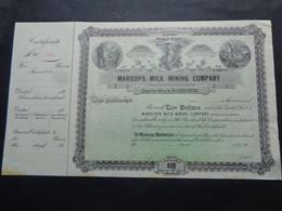 USA - ILLINOIS MINES IN ARIZONA - MARICOPA MICA MINING Co - TITRE NON EMIS - CERTIFICAT DE 100 DOLLARS 189. - Unclassified