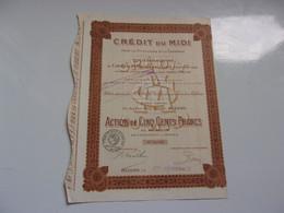 CREDIT DU MIDI (1922) Béziers HERAULT - Unclassified