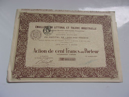 EMAILLERIE DU LITTORAL (1912) Béziers HERAULT - Non Classificati
