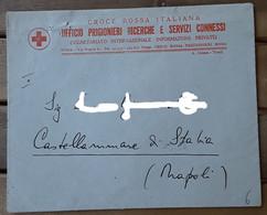 Croce Rossa - Busta Ufficio Prigionieri Ricerche E Servizi Connessi - Organizaciones