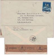 DR - 25 Pfg. Wiener Frühjahrsmesse Zensurbrief N. CHINA Wien - Shanghai 1941 - Briefe U. Dokumente