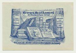 Carte Fantaisie Publicitaire - Bouquiniste Mr G. MOORTHAMERS Avenue De France ANVERS  Vers Libraire Mr RAOUST Lille - Antwerpen