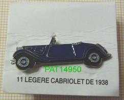 CITROEN TRACTION 11 LEGERE CABRIOLET De 1938 - Citroën