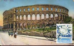 64528 Jugoslavia, Maximum 1963 Arena Of Pula,  Archeology, Colosseum,  Vintage Card - Archéologie