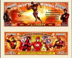 USA 1 Million Dollar Novelty Banknote 'The Flash' (DC Comics) - NEW - UNC & CRISP - Other - America