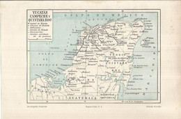 LAMINA ESPASA 36912: Mapa De Yucatan, Campeche Y Quintana Roo - Unclassified