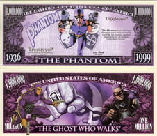 USA 1 Million Dollar Novelty Banknote 'The Phantom' (Lee Falk Creation) - UNC & CRISP - Other - America