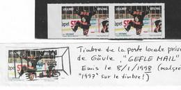 1998 Hockey Sur Glace: Poste Locale  Privée De Gävle (Suède) :2 Timbres Neufs + 1 Oblitéré - Hockey (Ijs)