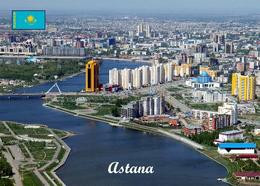 Kazakhstan Astana Ishim River Aerial View New Postcard Kasachstan AK - Kazakhstan