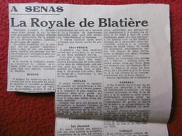 SENAS COURSE CAMARGAISE LA ROYALE DE BLATIERE TAUREAUX MIOCHE CARAQUE VANNEAU MECANO - Historische Documenten