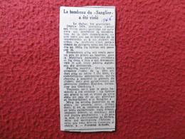 LE CAILAR TAUREAU CAMARGUAIS SANGLIER A ETE VIOLE FERNAND GRANON 1946 - Historische Documenten