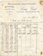 Trouville Sur Mer(14): Facture Boyaux Salés Pour Charcutiers Et Salaisons, 1929 - 1900 – 1949