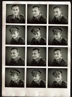 12 Photos Originales - Photobooth - Photo Identité - Photomaton - Polyfoto Jeune Homme - Militaire / Soldat  - Voir Scan - Personnes Anonymes