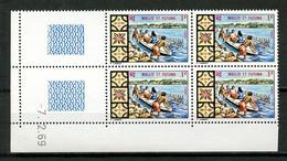 WALLIS FUTUNA 1969 N° 174 ** Bloc De 4 Coin Daté Neuf MNH Superbe C 8 € Petit Bateau Boats Pirogue Transports - Unused Stamps