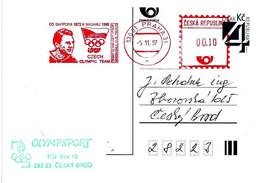 REP. CECA - 1997 PRAHA Frantisek Pospisil Capitano Squadra Ceca Di HOCKEY Medaglia Bronzo Olimpiadi Di Sapporo Ema -4592 - Winter 1972: Sapporo