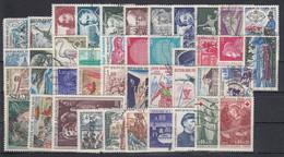 FRANCIA 1970 Nº 1621/1662 AÑO COMPLETO USADO, 42 SELLOS - 1970-1979
