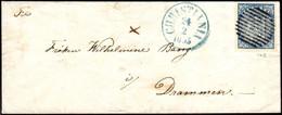 NORWEGEN 4 Skill NR 1   CHRISTIANIA 24. Februar 1855 Nach DRAMMEN Sehr Frühe Verwendung       Norway Norvege Noruega - Covers & Documents