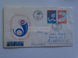 D179614    Romania  Airmail Cover FDC 1962  Cancel 1963 Bucuresti - Ziua Internationala A Filateliei  Sent To Hungary - Briefe U. Dokumente