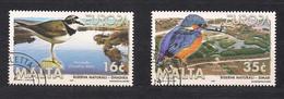 Malte Malta Cept 1999  Yvertn° 1039-40 (o) Oblitéré  Faune Oiseaux Vogels Birds - 1999