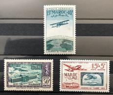 MAROC 1950 - NEUF*/MH - YT PA 74 + PA 83 + PA 84 - Posta Aerea