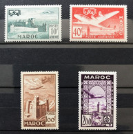 MAROC 1952 - NEUF*/MH - Série Complète YT PA 85 / 88 - LUXE - CV 15 EUR - Posta Aerea