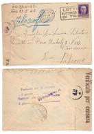 WQ471   Regno 1942 - Busta Da Trieste Per Palermo, Timbri E Fascetta Verificato Per Censura - Marcophilie