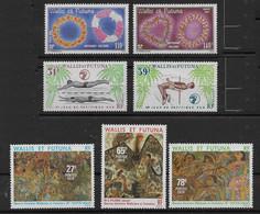 1979 Wallis Et Futuna N° 241 à 247 Nf** MNH . Colliers , Sport ( Natation, Saut En Hauteur), Œuvres D'artiste - Unused Stamps