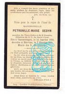 DP Petronille Marie Dedyn ° Gammerages Galmaarden 1830 † Biévène Bever 1911 - Andachtsbilder