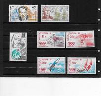 1988 Wallis Et Futuna N° 375 à 381 Nf** MNH . Francis CARCO, La Perouse, Croissant Rouge, Séoul 88 - Unused Stamps