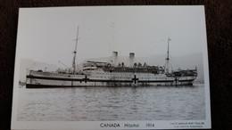 CPA BATEAU DE GUERRE CANADA HOPITAL 1914   PHOTO MARIUS BAR TOULON - Guerra