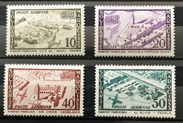 MAROC 1954 - NEUF*/MH - Série Complète YT PA 94 / 97 - LUXE - CV 12 EUR - Posta Aerea