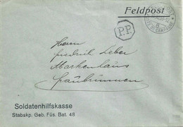 "Feldpost  ""Soldatenhilfskasse, Geb Füs Bat 48""  (PP Stempel)           1939 - Brieven En Documenten"
