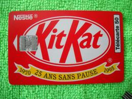 7094 Télécarte Collection KIT KAT NESTLE  25 Ans Sans Pause     50u  ( Recto Verso)  Carte Téléphonique - Alimentazioni