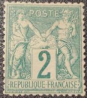 Sage N° 62 Neuf * Gomme D'Origine, Bon Centrage, Signé BRUN  TB - 1876-1878 Sage (Type I)