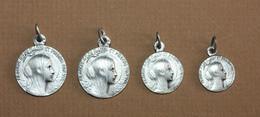 """WW1 - Série De 4 Médailles Religieuses D'aviateur """"Notre-Dame Du Platin""""  Saint-Palais-sur-Mer - Aviator Medal - WWI - 1914-18"""