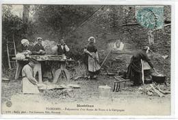 PLOERMEL - Préparation D'un Repas De Noces à La Campagne - CPA ( Morbihan  - France) - Ploemeur