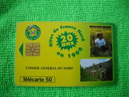 7103 Télécarte Collection  CONSEIL GENERAL DU NORD  Gites De France 20e Anniv  50u  ( Recto Verso)  Carte Téléphonique - Pubblicitari