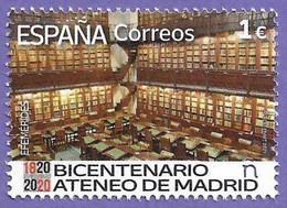 España. Spain. 2021. Efemérides. Bicentenario Del Ateneo De Madrid - 2011-... Nuevos & Fijasellos