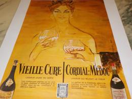 ANCIENNE PUBLICITE  VIELLE CURE OU CORDIAL -MEDOC 1956 - Alcools