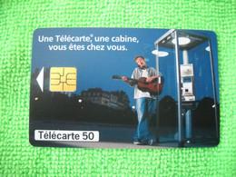 7113 Télécarte Collection CABINE Téléphone  France Télécom  Guitare    50u  ( Recto Verso)  Carte Téléphonique - Telefoni